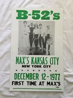 The B-52s band concert flyer from 1977