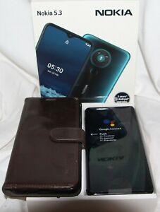 Nokia 5.3 64GB Dual-SIM charcoal Smartphone ohne Simlock - gebraucht mit Hülle