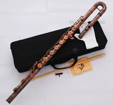 Professional Bass Flute C Key Red Antique Italian Pads Newest With Case