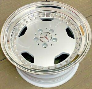 "Mercedes 17"" AMG Aero 3 Monoblock 5x112 Mercedes Alloy Wheels W126 W124 R129"