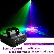 3 lens red green blue pattern laser light DJ Disco Stage Party Show DMX 300mW