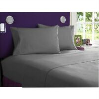 100% Cotton Bedding Collection 1000 TC Select Item AU Sizes Grey Solid