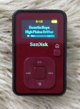 Sansa Sandisk Clip+ Plus MP3 Player 4GB Red Black Voice Recorder FM Radio