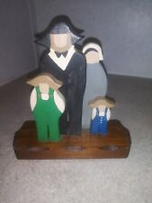 """6"""" Amish Family Wooden Décor"""