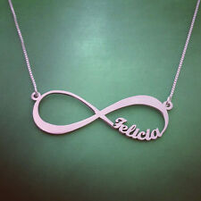 Infinity Name Necklace -neckless- Sterling Silver Forever Personalized Pendant
