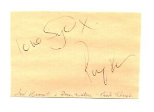 Syd Barrett & Roger Waters original hand signed autographs