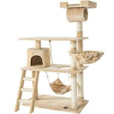 Cat Tree Scratching Post Scratch Centre Bed Toys Kitten Scratcher 141cm Beige