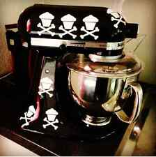 8 Cupcake Skull Crossbones Kitchen Aid Mixer Decal Stickers
