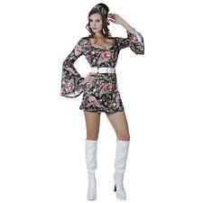Black 60's 70's GoGo Dress Size 8 - 12. Disco Fever