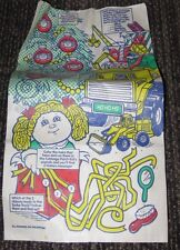 1992 Cabbage Patch Girls & Tonka McDonalds Happy Meal Bag