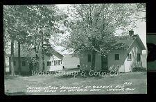 1950's RPPC Butternut & Basswood at Schram's Red Cedar Lodge Jenkins MN B1072