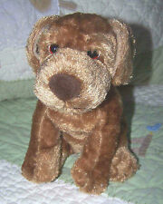 "Golden Bear Co.Silky Stuffed Light Brown Blood Hound Puppy Dog 7"" EUC"