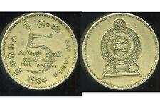 SRI LANKA  5 rupees  1984  ( bis )