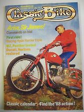 Classic Bike Magazine. No. 98. March, 1988. MZ, Panther tested. Ducati, Nortons