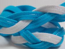 Light Blue White Braided Hair Band Head Under Sweaty Headband Armour Non Slip