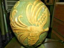 New listing Early 1900's Era Pottery Table Lamp With Large Winged Bird Roseville? Weller?