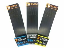 """Guru Ready Tied F1 Pellet 6"""" Pole Rigs Size 16 8pcs for Coarse / Match Fishing"""
