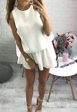 Vestido blanco apagado Mono/S