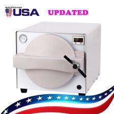 US 18L Updated Dental Autoclave Steam Sterilizer Medical Sterilization SS 304