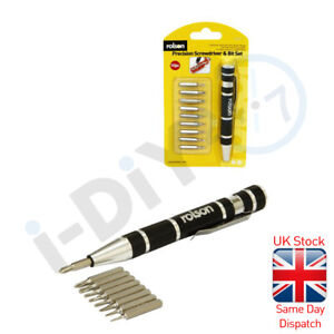 Rolson 9 In1 Magnetic Precision Screwdriver Set Electronic Spectacles Jewellery