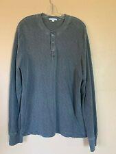James Perse Standard Men's Gray Long Sleeve Henley Tee Shirt (size: 3/L) NICE!