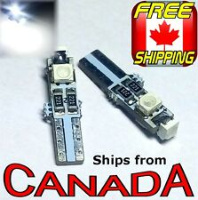 "Two Cool WHITE  T5 / 74 Type LED CANbus ""Error Free"" Bulbs  3x5050 chips 12v"