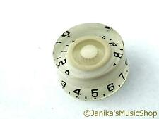 WHITE SPEED KNOB FOR ELECTRIC GUITAR LP NEW CHEAP