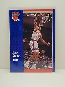 1991-92 Fleer New York Knicks Basketball Card #330 John Starks Rookie