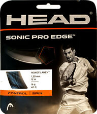 HEAD SONIC PRO EDGE Tennis Strings Anthracite Monofilament 16 g / 40 ft * NEW
