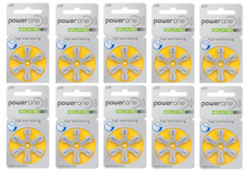 Power one hearing aid batteries (Size 10) - 10 cards (60 cells) MF