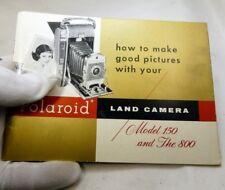 Polaroid de Tierra 150 800 Cámara Instrucciones Manual Inglés En