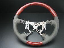 MIT Toyota TUNDRA 2003-2007 Burl wood Genuine Tan leather steering wheel-SPORTS