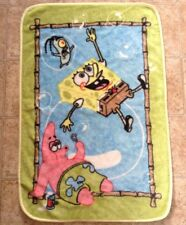 SpongeBob Patrick Plankton Soft Baby Blanket Nickelodeon Bubbles Soft Minky