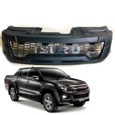 Chrome Matte Black Front Grille Grill LED For Isuzu D-max DMAX 2012 2013 2014