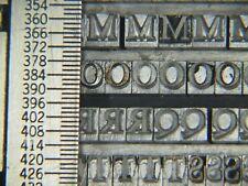 Caslon 14 pt. Caps Only - Letterpress - Metal type - Printers Type
