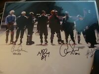 Mighty Ducks Autographed by 4 cast members Movie Cast Signed 11x14 Photo JSA COA