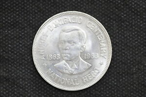 Philippines 1963 One Peso Silver Coin ( Weight : 26.55 g ) C243