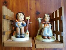 Hummel Book Ends 251B good friends Boy with Flowers girl with lamb