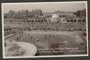 Postcard Skegness Lincolnshire swimming Bathing Pool paddling Lake RP by Empire