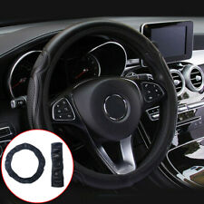 15'/38cm Car Suv Steering Wheel Cover Leather Anti-slip Breathable Accessories