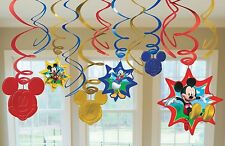 Mickey Mouse Swirl Decorations For Birthday Party Supplies Favor Pack