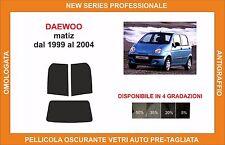 pellicola oscurante vetri daewoo matiz dal 1999 al 2004 posteriore