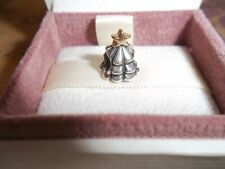Genuine Authentic Pandora Silver & 14ct Gold Christmas Tree Charm 790365 RRP £65