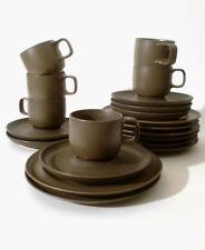 """70s Rosenthal Kaffee Tasse Teller 20tlg """"Kaari"""" braun Sarpaneva cup annees 70"""