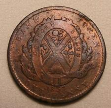 1837 Province Of Lower Canada Bank Of Montreal 1 Penny / 2 Sou Token!  BR-521!