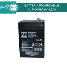 BATTERIA AL PIOMBO RICARICABILE 6V 4,5Ah