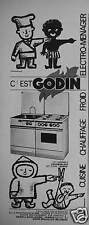 PUBLICITÉ 1962 CET ENSEMBLE SIGNÉ GODIN CUISINIÈRE CHARBON GAZ  - GUISE AISNE