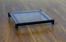 Beautiful VTI BLG404BW-01 Audio Clear Glass Amp Stand, Brand NEW