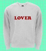 Lover Sweatshirt Indie Retro Blogger Jumper Hipster Rose Lit Heart Sweat Top