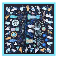 Scialle a forma di scialle con foulard in seta seta mani Jacquard delle donne